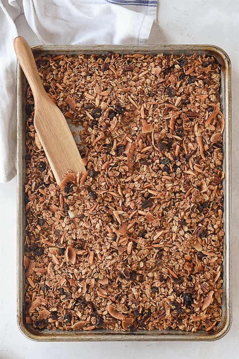 pan of baked granola