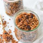 two jars of granola