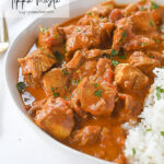 bowl of instant pot chicken tikka masala