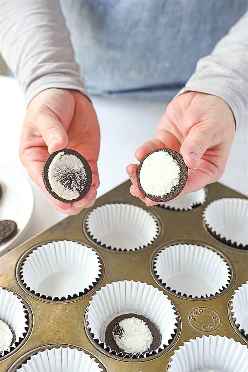 making oreo cupcakes