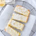 overhead shot of sliced lemon bars