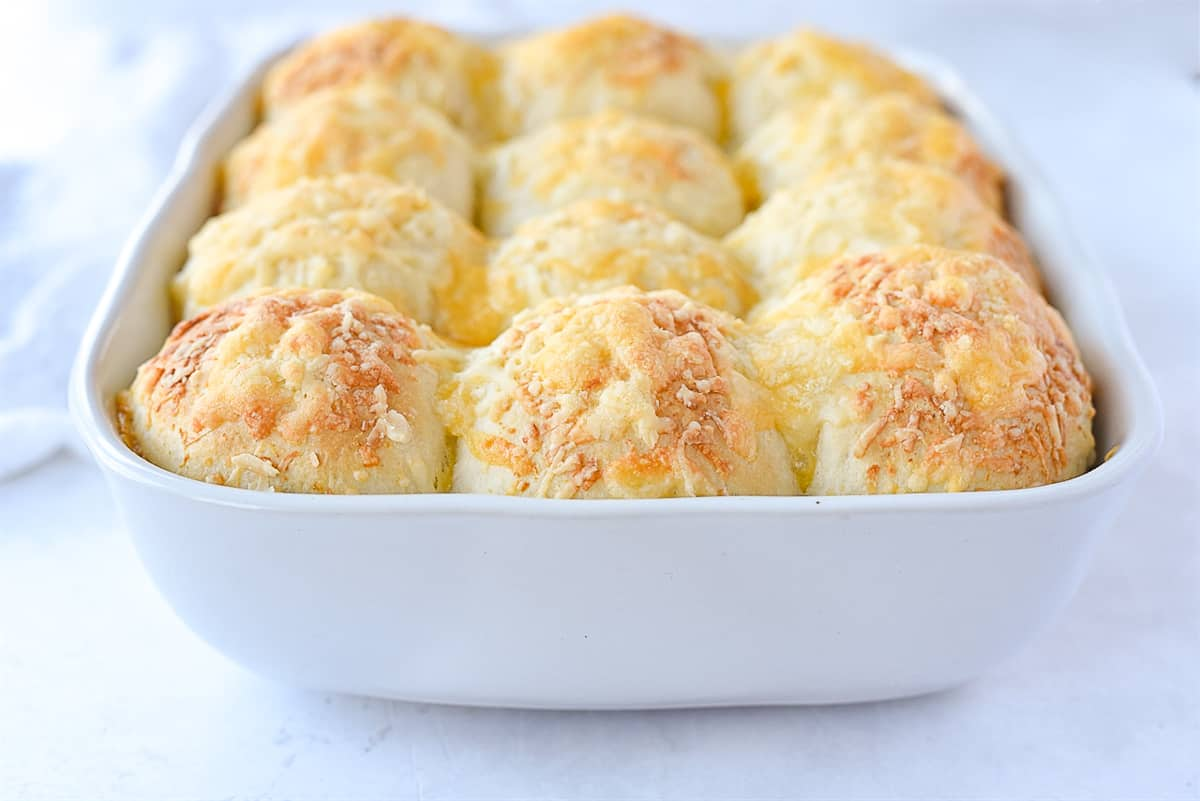 cheese herb rolls in a pan