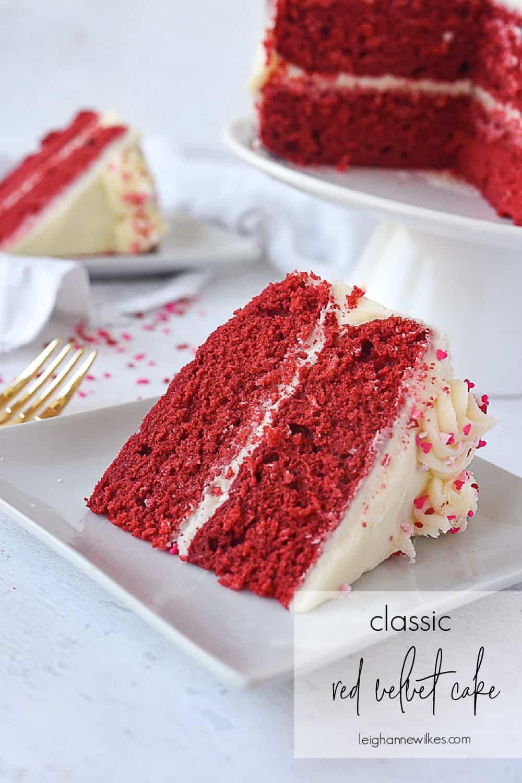 slices of red velvet cake on a plate