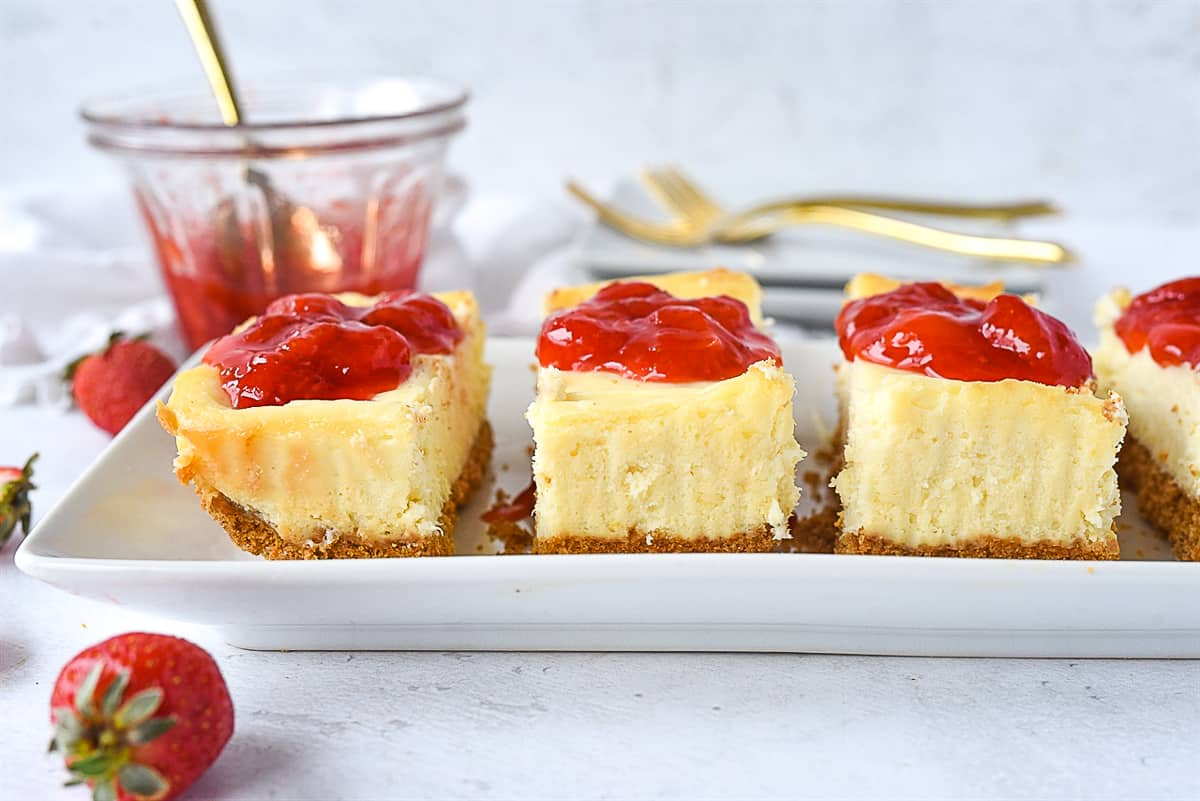 side view of small batch cheesecake