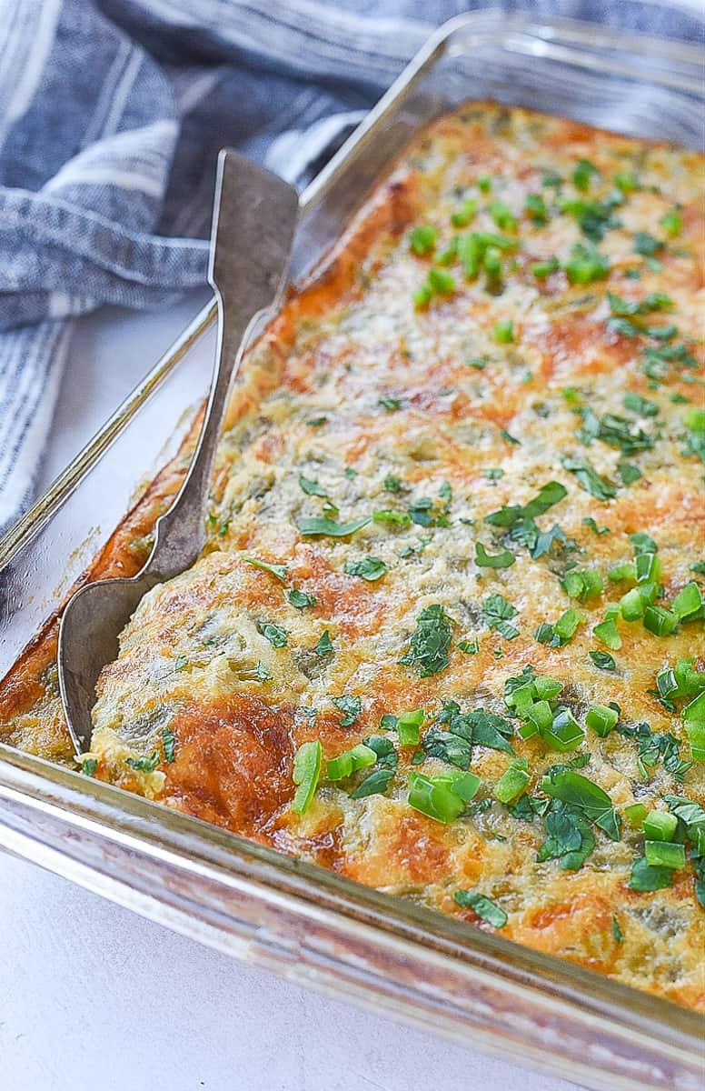 overhead shot of breakfast casserole