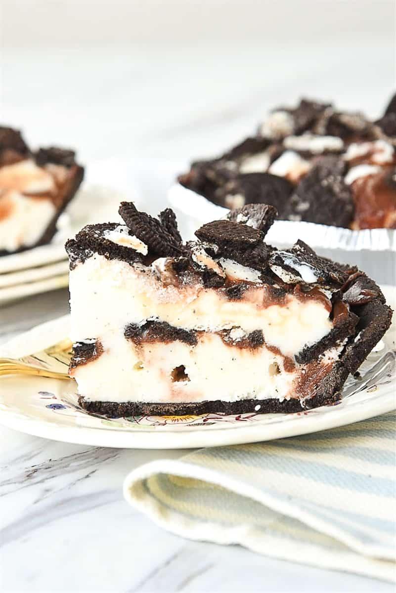 slice of ice cream pie on a plate