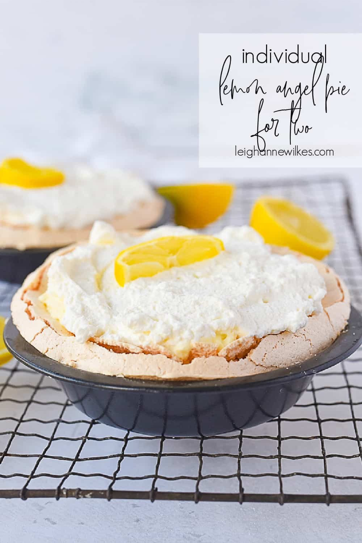 individual lemon angel pie