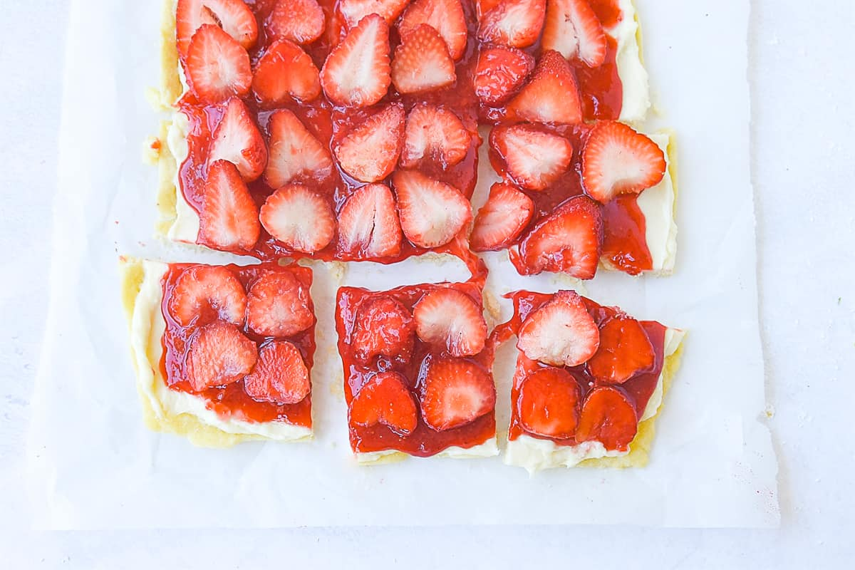 slices of strawberry pizza