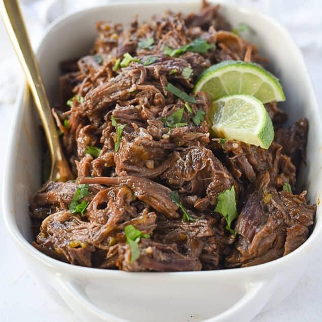 dish of beef barbacoa