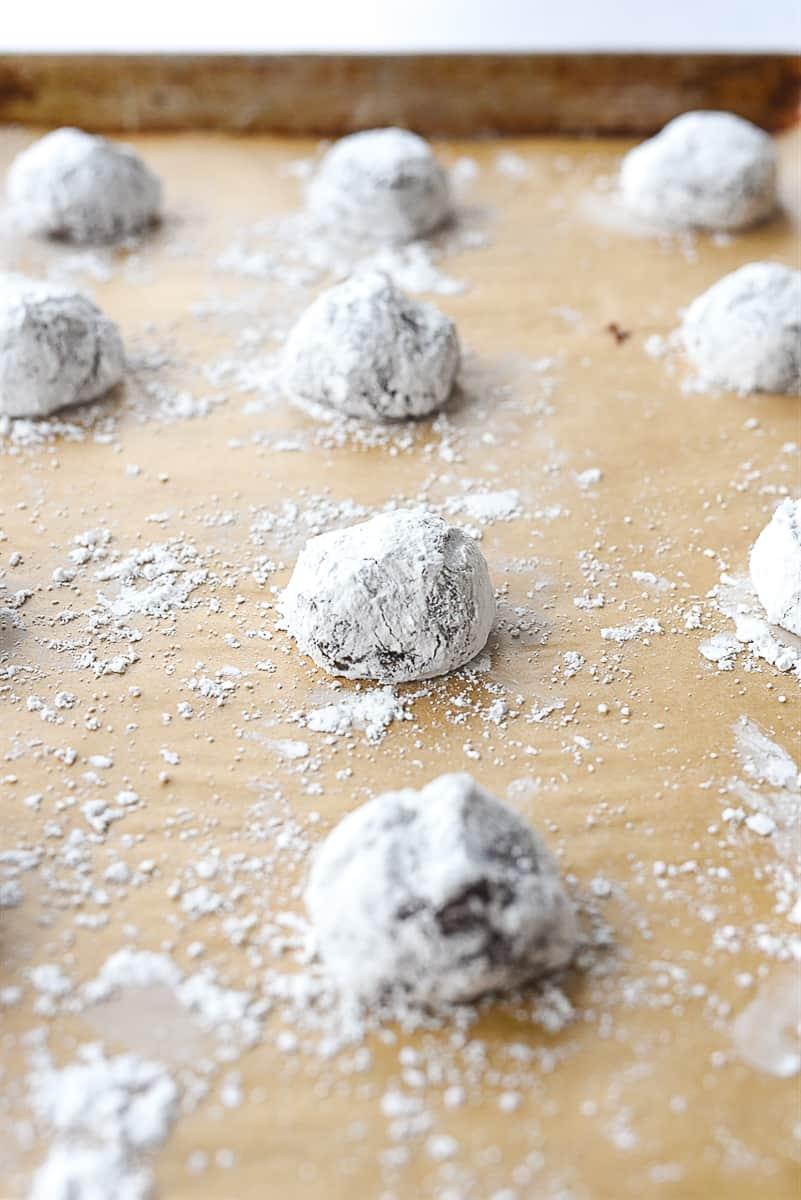 cookie dough on baking sheet