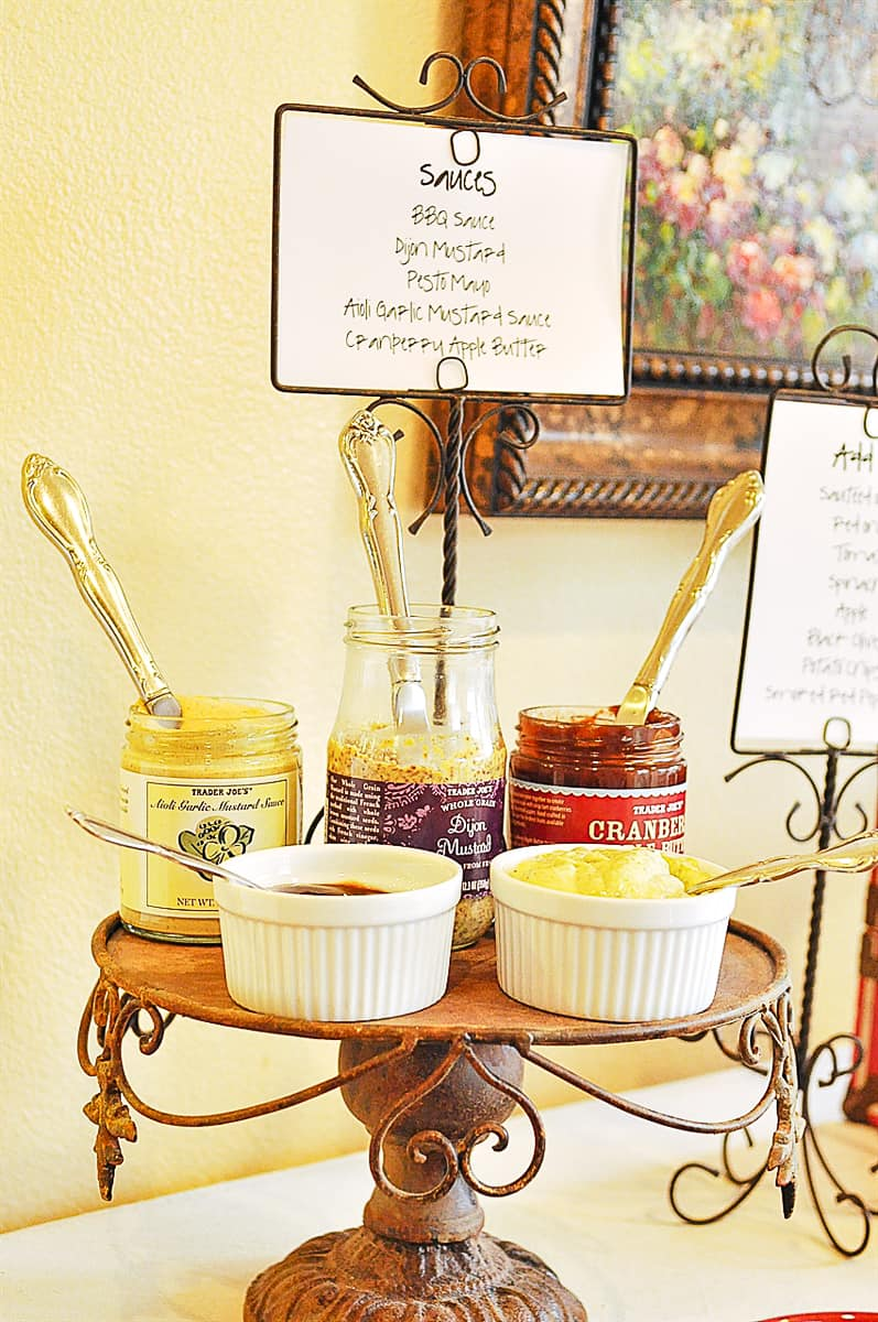grilled cheese bar condiments