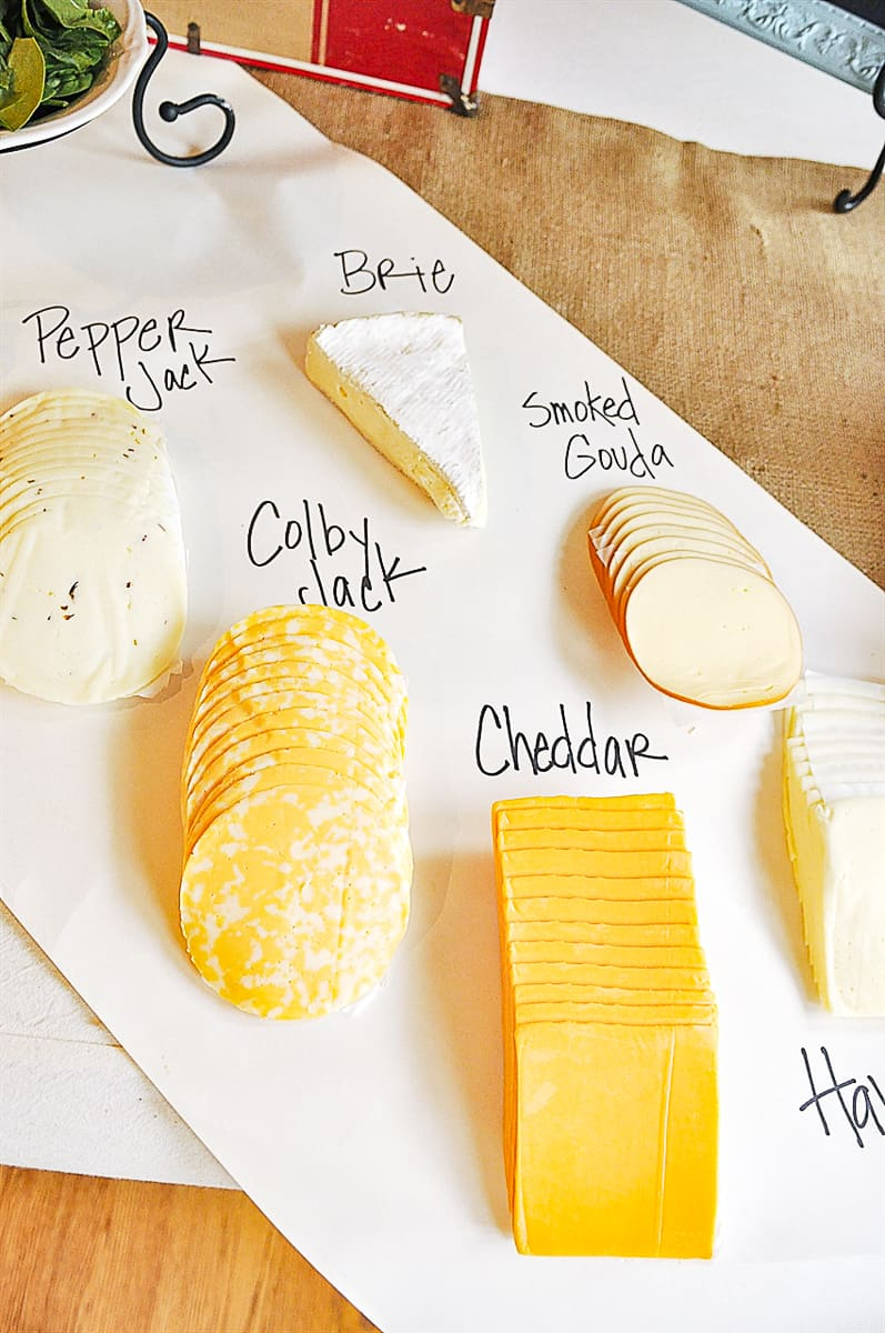 cheese selection for cheese bar
