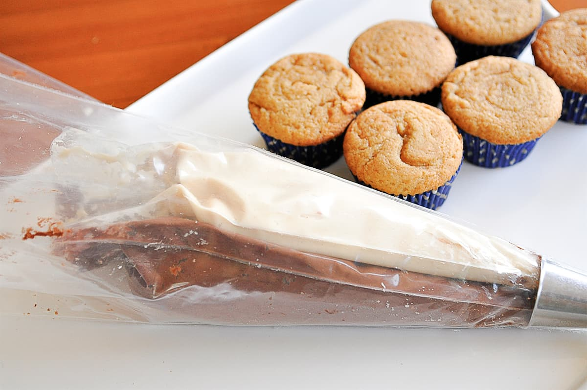 frosting in a decorating bag