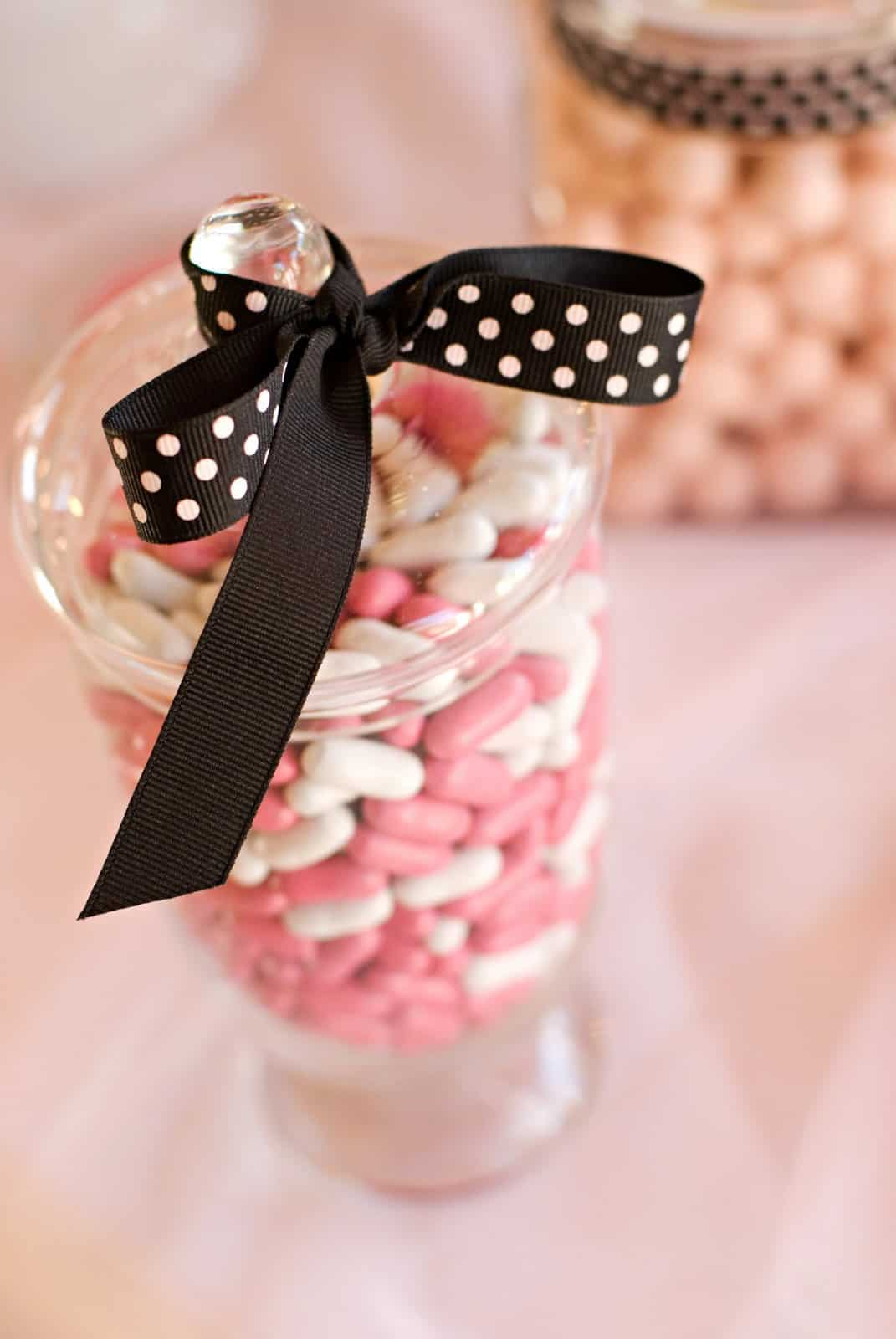 good and plenty candy in a jar
