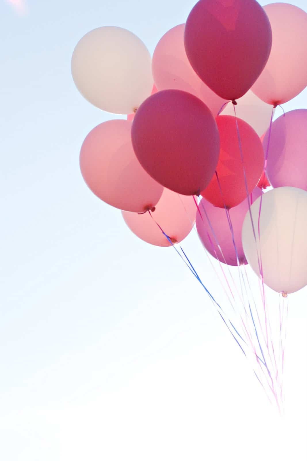bouquet of pink balloons
