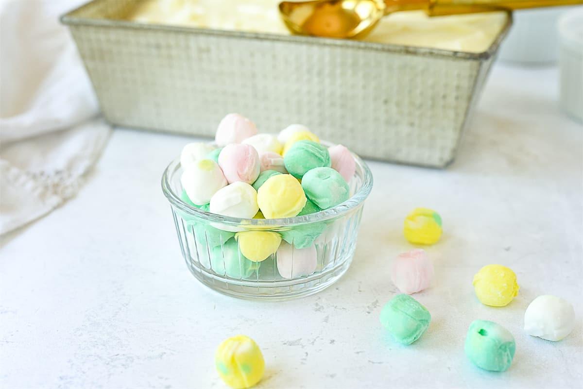 bowl of buttermints