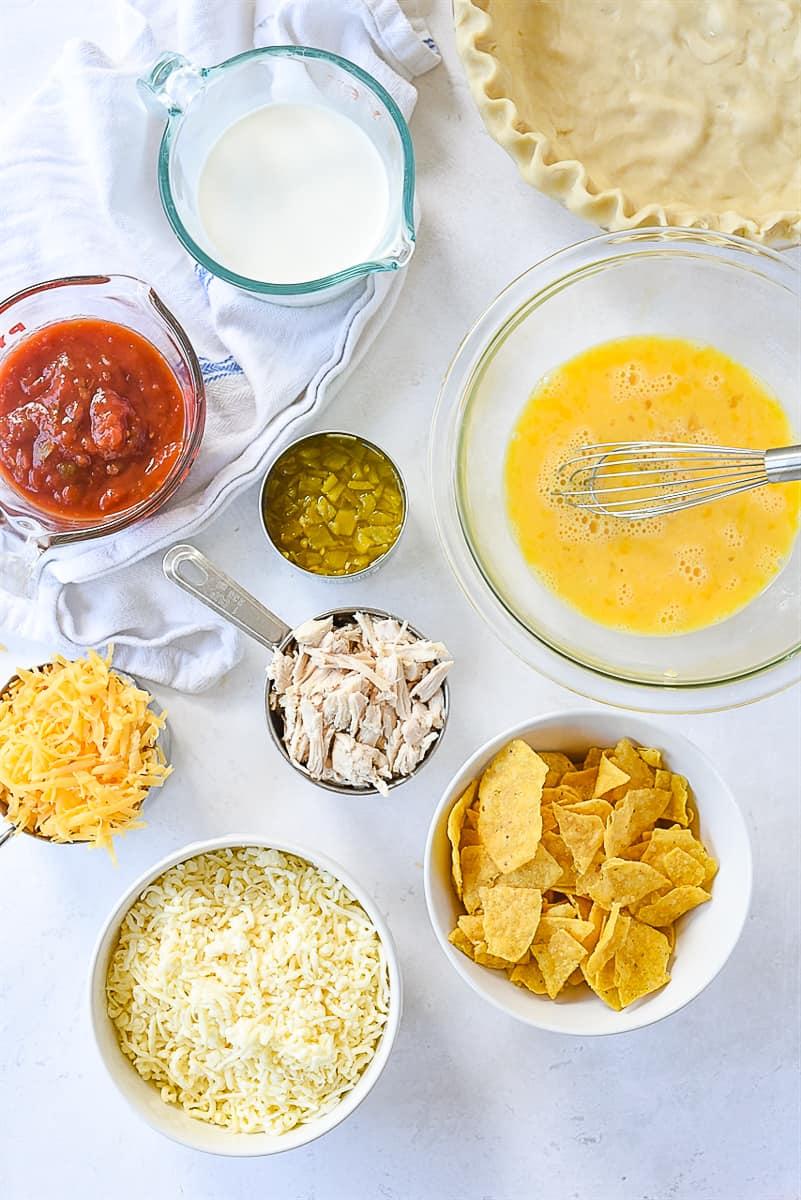 Enchilada Quiche ingredients