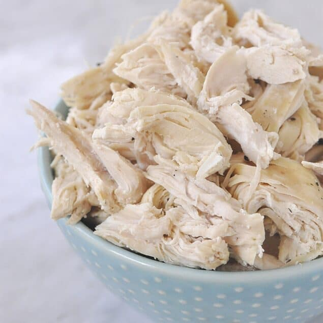 Shredded Chicken in the Slow Cooker