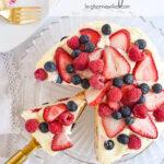 lemon berry cake sliced