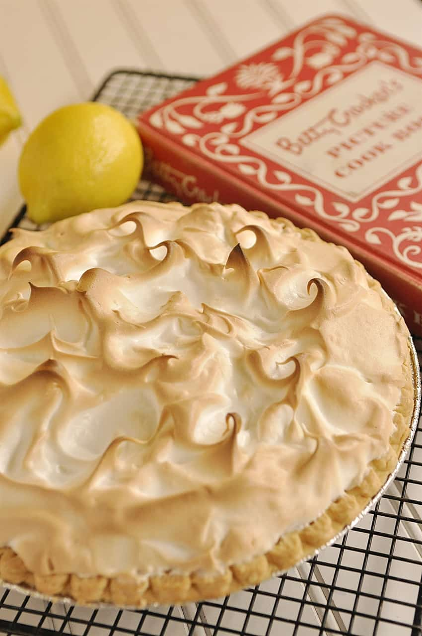 pie next to a cookbook