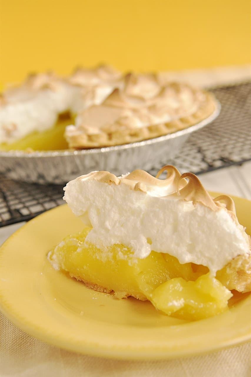 slice of lemon meringue pie
