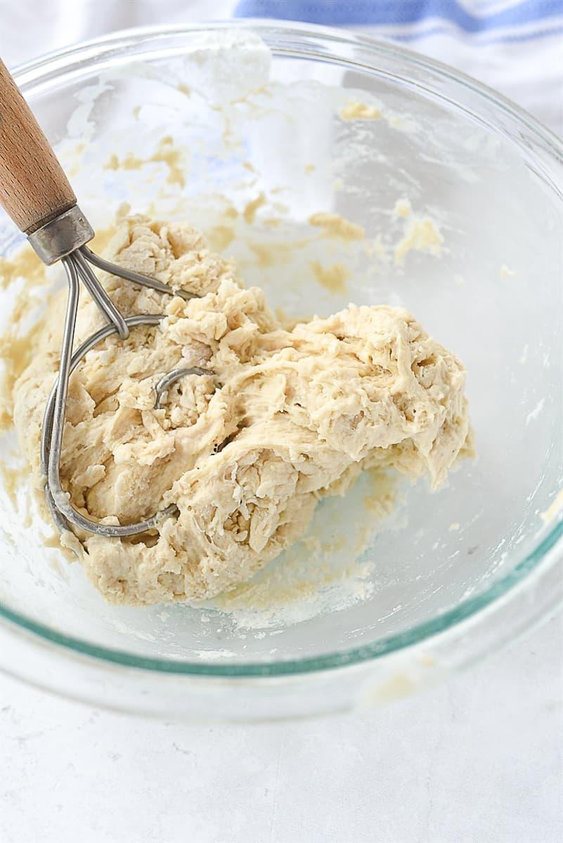 sticky focaccia dough.