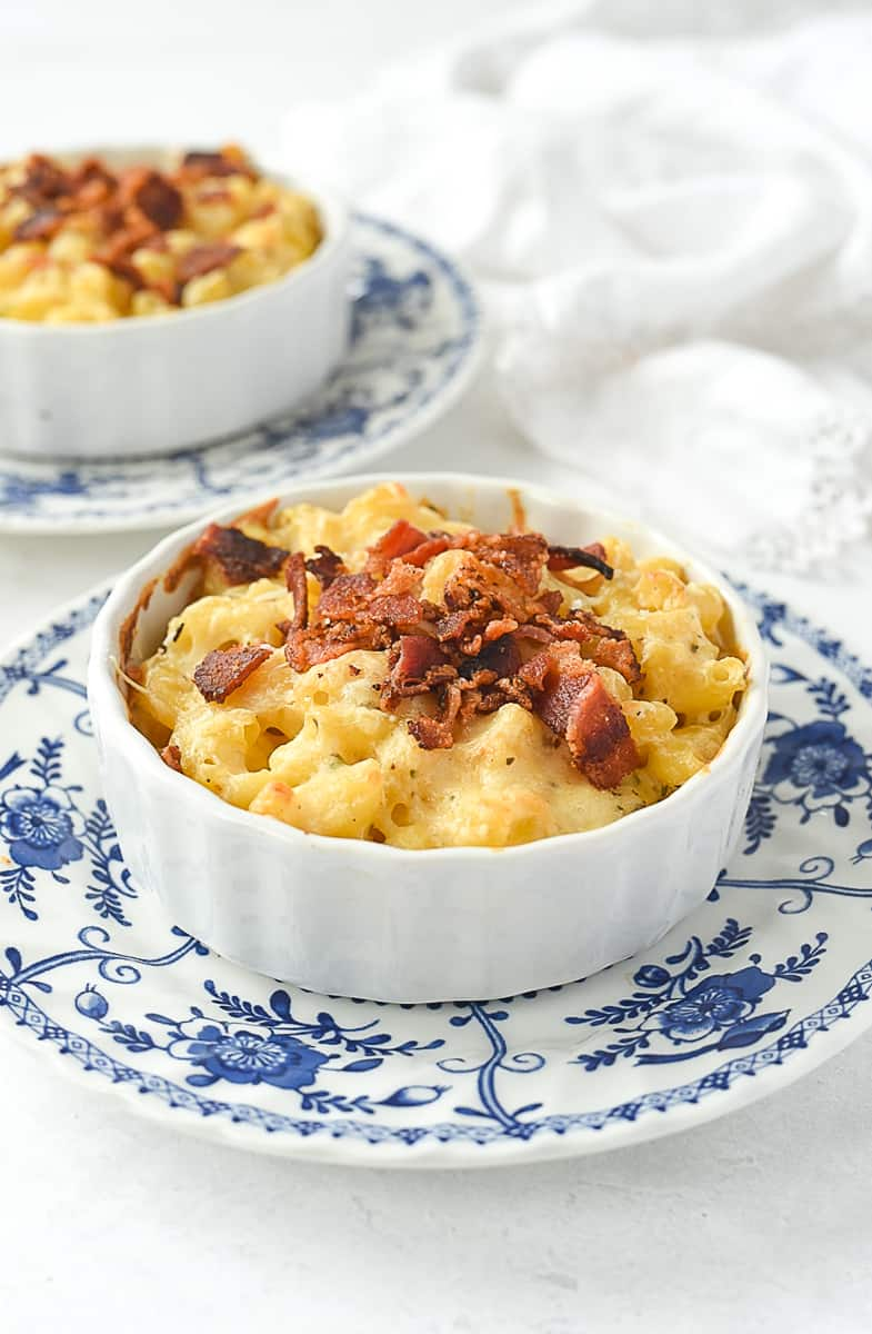 two bowls of mac and cheese