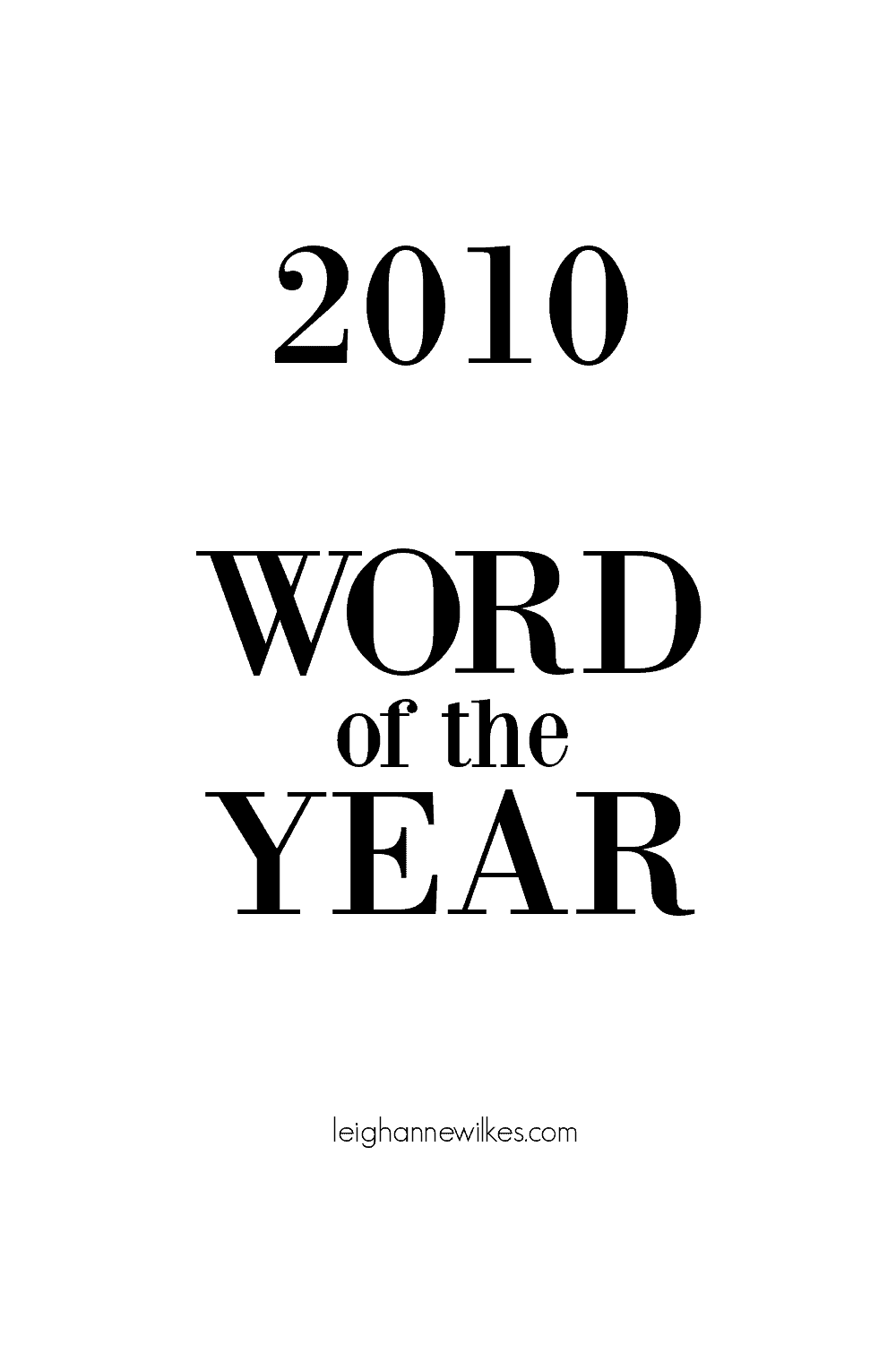 2010 word of the year