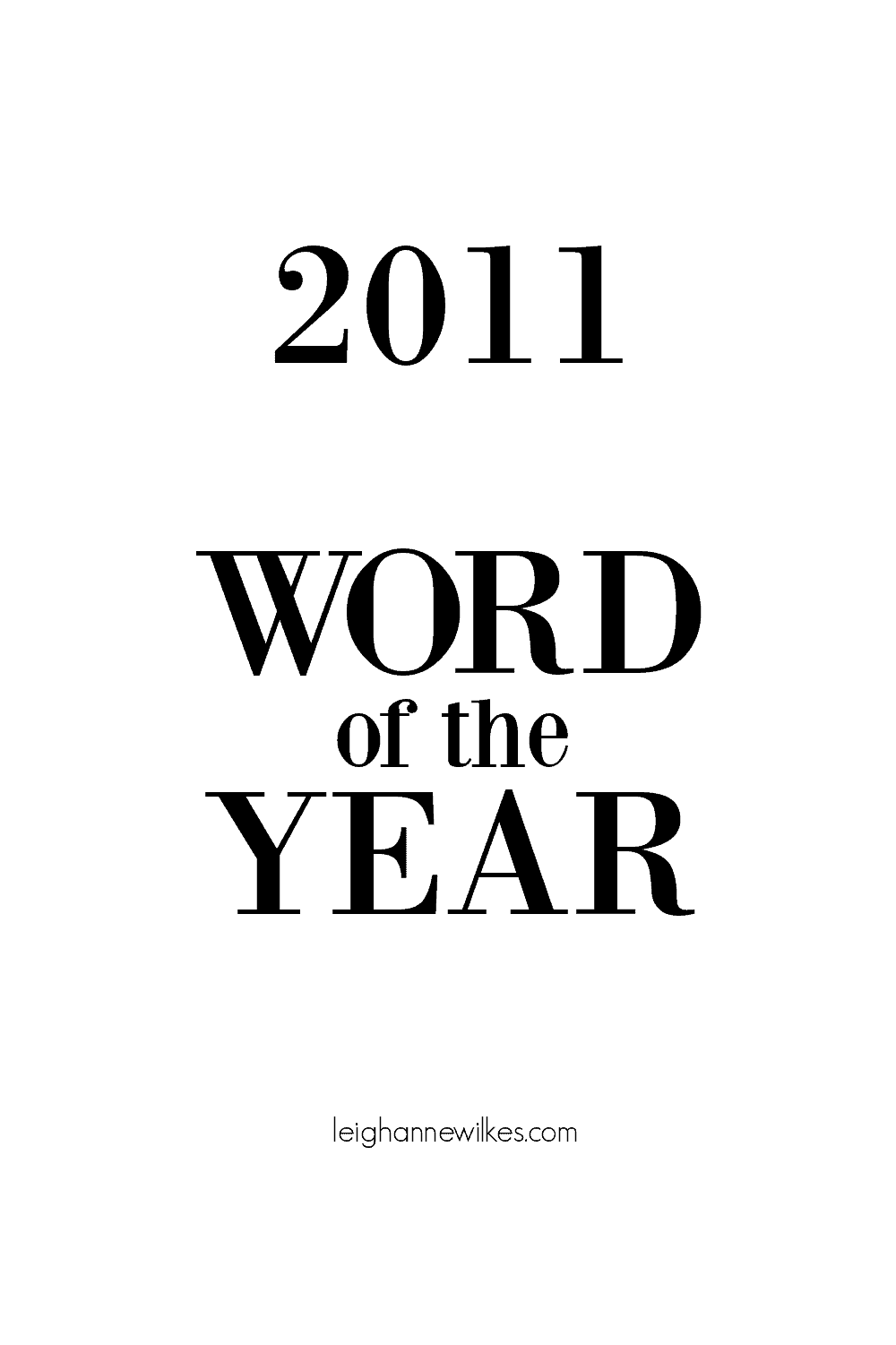 2011 word of the year