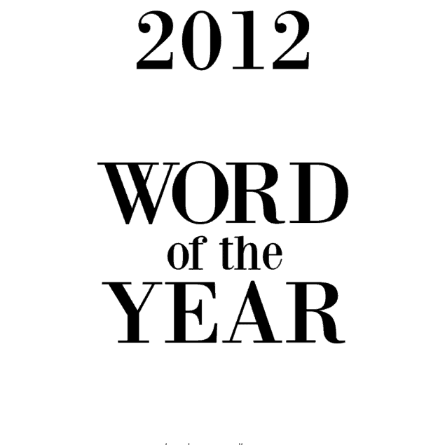 2012 word of the year
