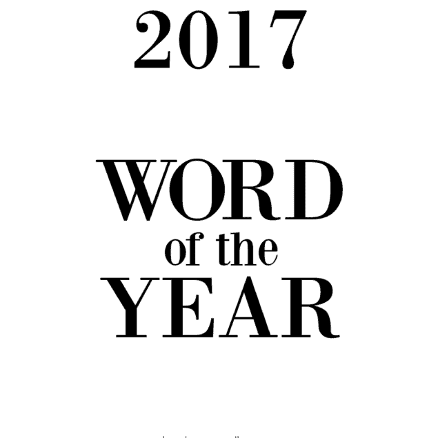 2017 word of the year