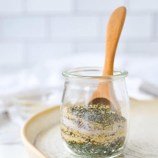 jar of garlic herb spice mix