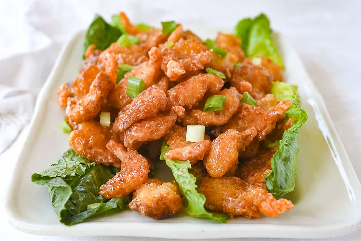 firecracker shrimp with green onions