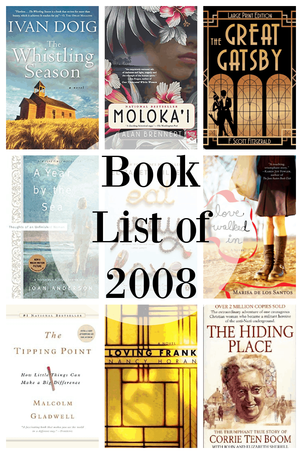 book list of 2008