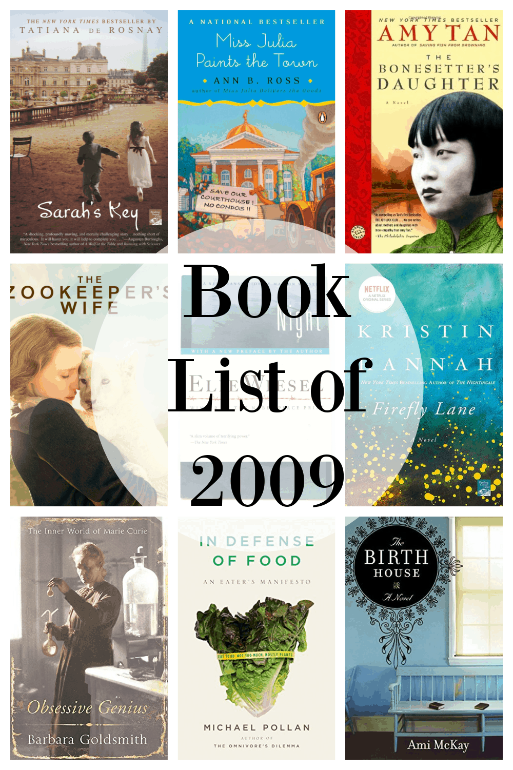 book list of 2009
