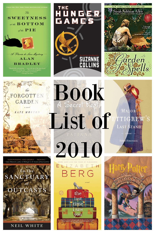 book list 2010