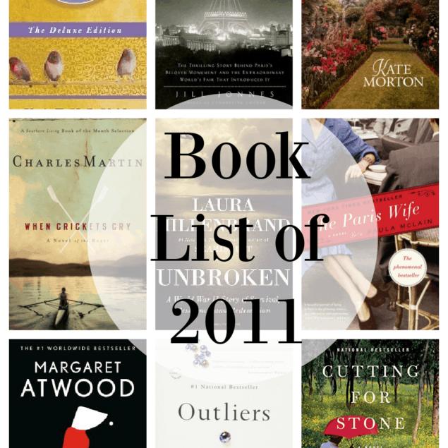2011 book list