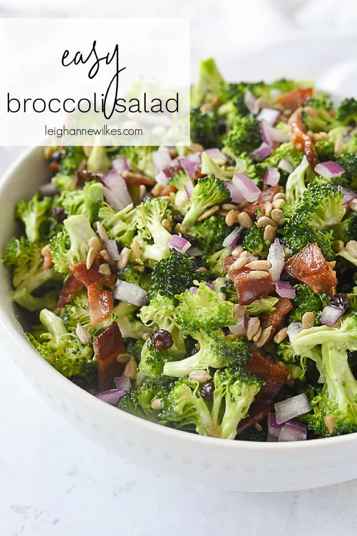 bowl of broccoli salad