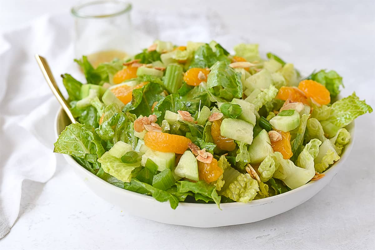 celestial salad in a white bowl