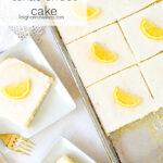 pieces of lemon texas sheet cake