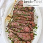plate of sliced london broil