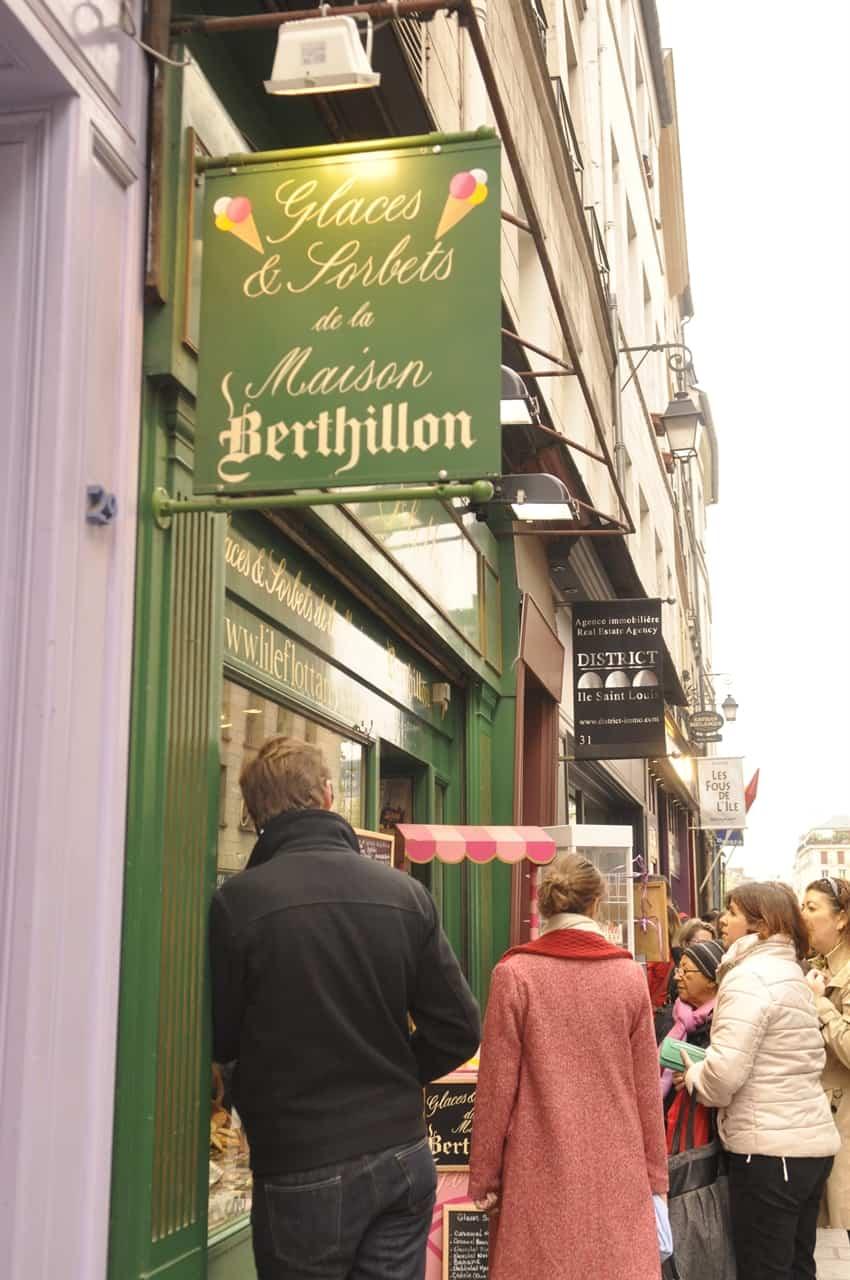 Berthillion ice cream
