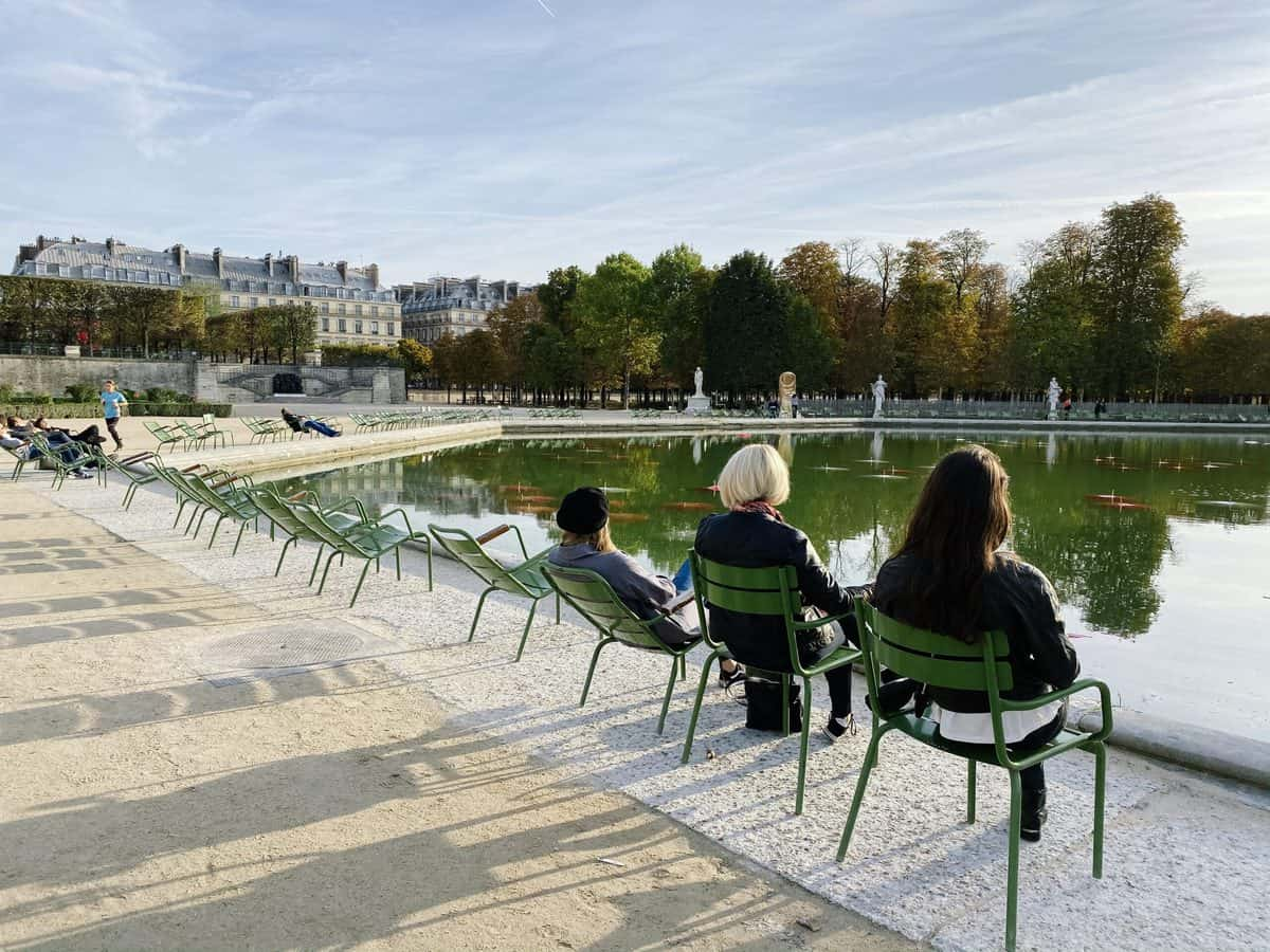 sitting in the tuileries gardens