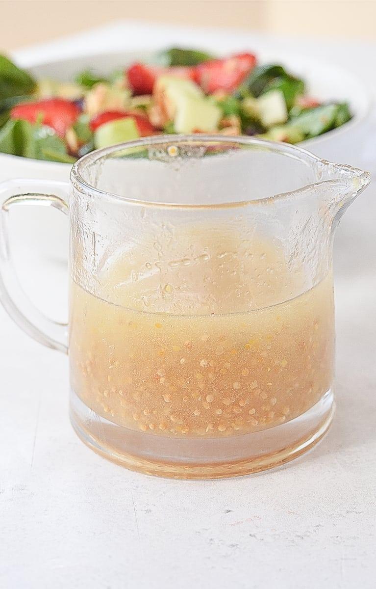 pitcher of lemon dressingf