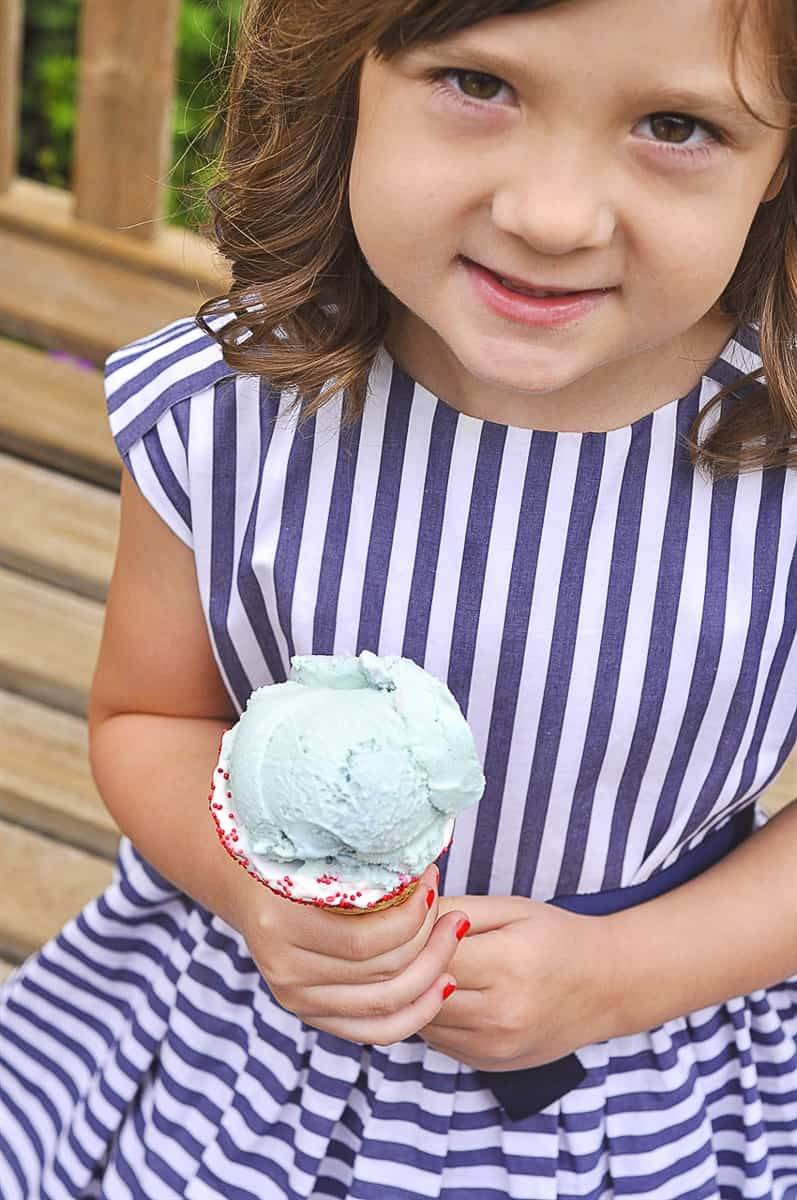 blue moon ice cream cone