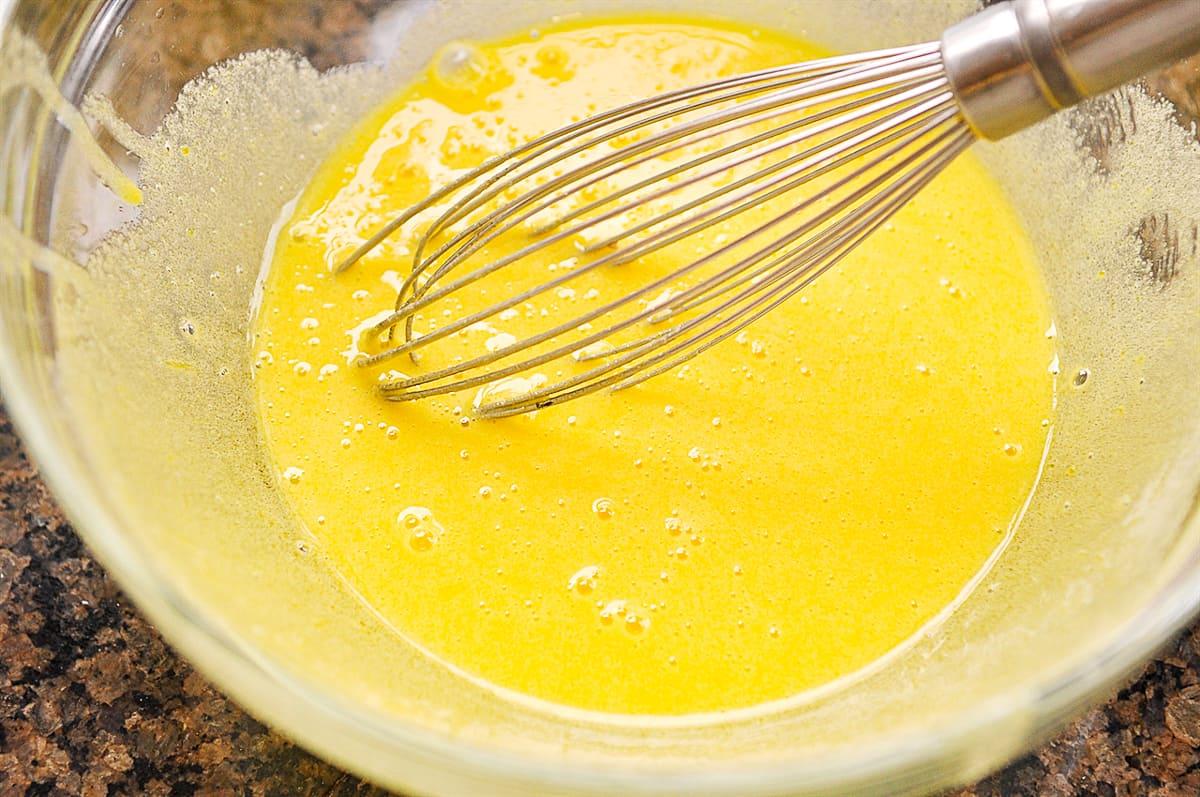 custard mixture in bowl