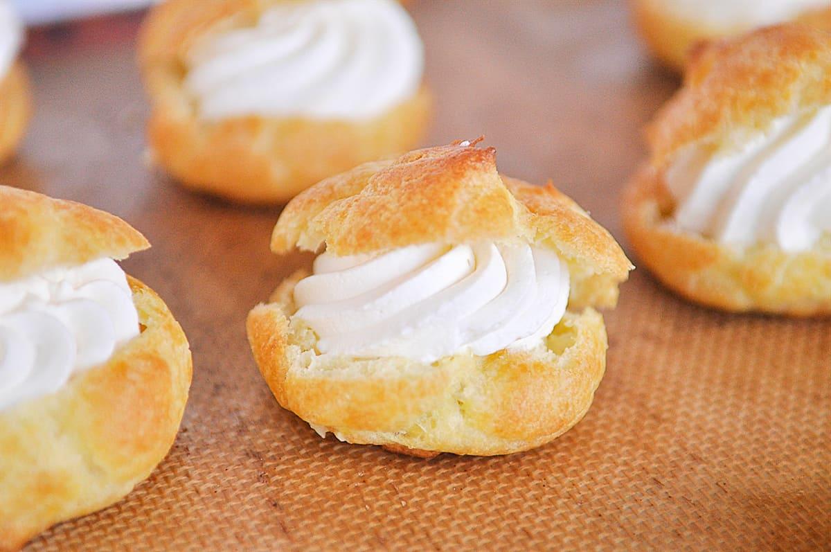 top on a cream puff