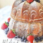 close up of 7 up bundt cake