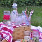 Picnic with mason jars