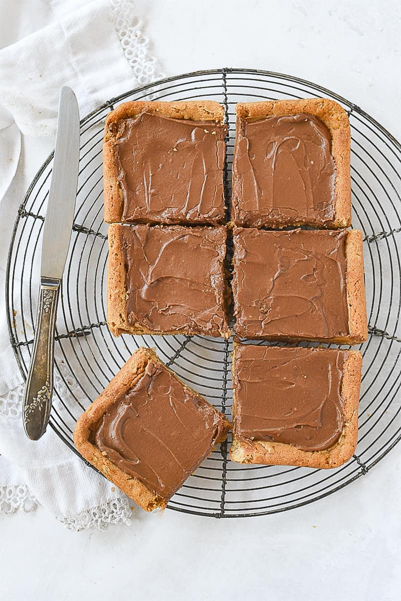 small batch peanut butter bars